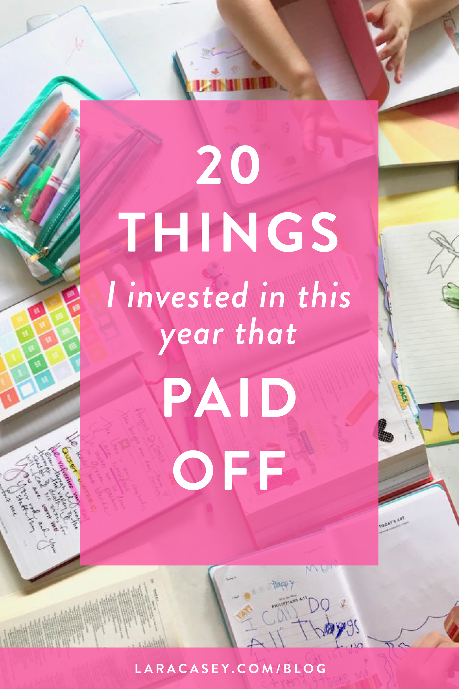 20 Things I Invested in that Paid Off